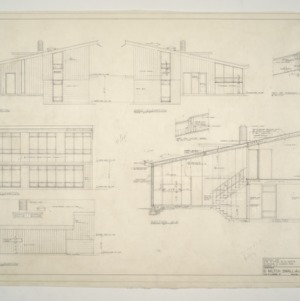 B. W. Smith Residence -- West, South, North, East Elevations