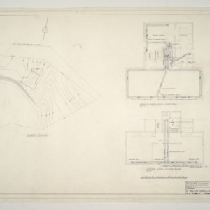 B. W. Smith Residence -- Plot Plan, Heating Plans - Lower and Middle Level Floor, Upper Level Floor