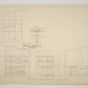 B. W. Smith Residence -- Kitchen Elevations