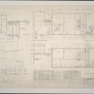 Donald B. and Marian R. Anderson Residence -- Floor and Plot Plans