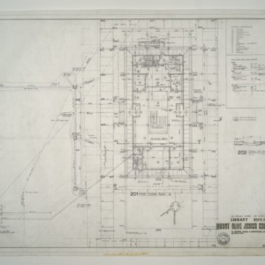 Mount Olive Junior College Library Building -- First Floor Plan