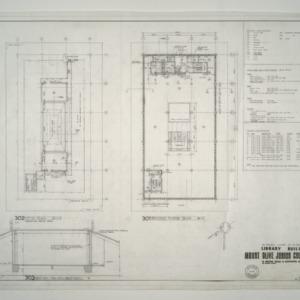 Mount Olive Junior College Library Building -- Attic Plan, Second Floor Plan