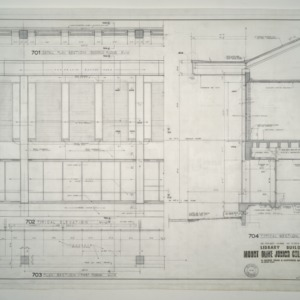 Mount Olive Junior College Library Building -- Detail Plan Section Second Floor