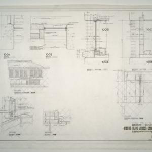 Mount Olive Junior College Library Building -- Eastern Elevation, Revised Details, Revised Typical Section
