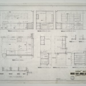Mount Olive Junior College Library Building -- Millwork Details and Elevations