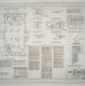 Mount Olive Junior College Library Building -- Foundation Plan