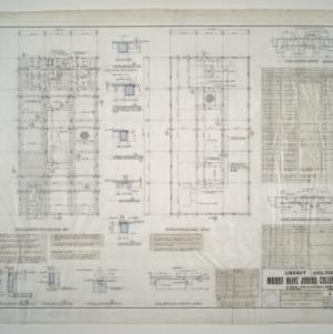 Mount Olive Junior College Library Building -- Second Floor Framing Plan, Attic Framing Plan