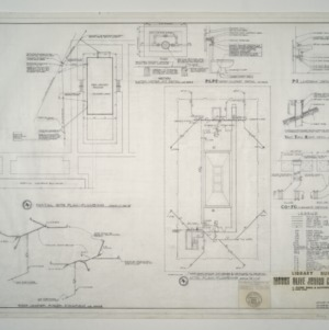 Mount Olive Junior College Library Building -- Partial Site Plan - Plumbing