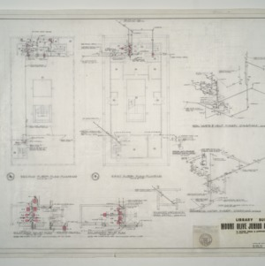 Mount Olive Junior College Library Building -- First and Second Floor Plumbing Plan