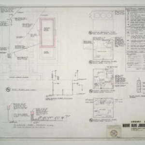Mount Olive Junior College Library Building -- Electrical Legend, Fire Alarm and Telephone Riser Diagrams