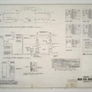 Mount Olive Junior College Library Building -- Lighting Fixtures, Electrical Riser Diagram