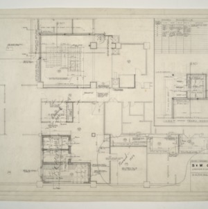 Home Security Life Insurance Building -- Basement Floor Plan, Finish Schedule and Space Schedule