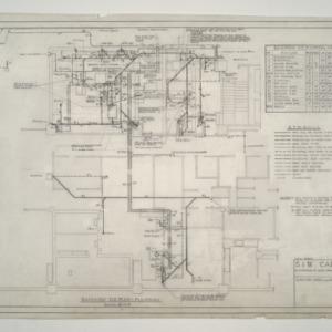 Home Security Life Insurance Building -- Basement Plumbing Plan
