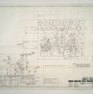 NCSU Forestry School -- First Floor Electrical Power Plan