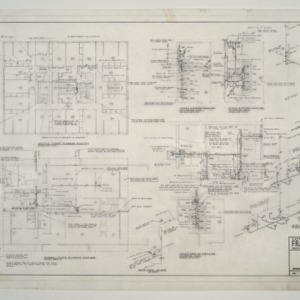 NC State College Fraternity Housing -- House #11 - First Floor Plumbing Plan, Toilet Room and Bath Plumbing Plan