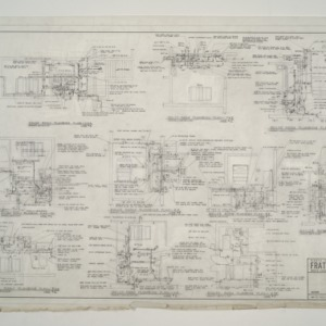 NC State College Fraternity Housing -- Boiler Room Plumbing Plan for Houses