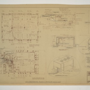 NC State College Fraternity Housing -- House #11 - Air Conditioning Plans and Details