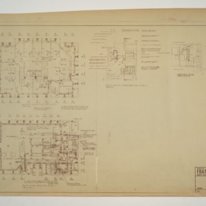 NC State College Fraternity Housing -- House #10 - Second and Main Floor Heating Plan