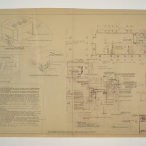 NC State College Fraternity Housing -- House #4 - Partial Plot Plan, Air Conditioning Plans and Details