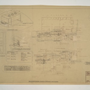 NC State College Fraternity Housing -- House #2 - Air Conditioning Plans and Details