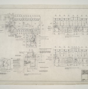 NC State College Fraternity Housing -- House #1 - Main, Second, and Third Floor Heating Plan