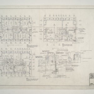 NC State College Fraternity Housing -- House #2 - Ground, Main, and Second Floor Heating Plan