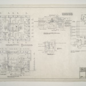 NC State College Fraternity Housing -- House #3 - Second, Main Floor, Mech Equipment Room Heating Plan