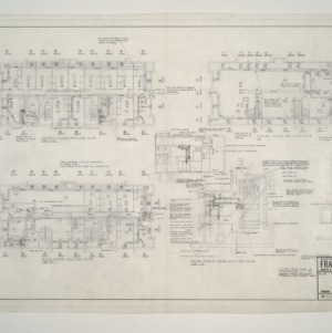 NC State College Fraternity Housing -- House #4 - Second, Main Floor, Mech Equipment Room Heating Plan