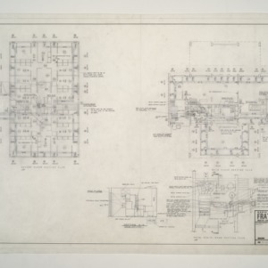 NC State College Fraternity Housing -- House #5 - Second, Main Floor, Mech Equipment Room Heating Plan