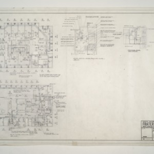 NC State College Fraternity Housing -- House #10 - Second, Main Floor, Mech Equipment Room Heating Plan