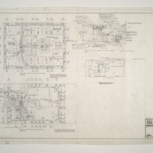 NC State College Fraternity Housing -- House #11 - Second, Main Floor, Mech Equipment Room Heating Plan