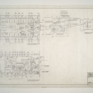 NC State College Fraternity Housing -- House #12 - Second, Main Floor, Mech Equipment Room Heating Plan