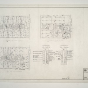 NC State College Fraternity Housing -- House #2 - Main, Second, Third Floor Electrical Plan
