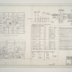 NC State College Fraternity Housing -- House #3 - Main, Second Floor Electrical Plan, Electric Fixture Detail