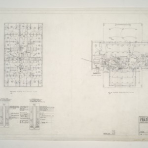 NC State College Fraternity Housing -- House #5 - Second and Main Floor Electrical Plan