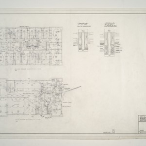 NC State College Fraternity Housing -- House #6 - Second and Main Floor Electrical Plan