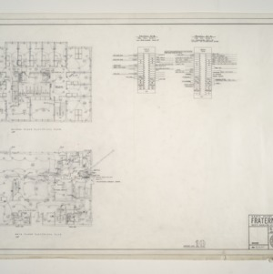 NC State College Fraternity Housing -- House #10 - Second and Main Floor Electrical Plan