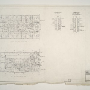 NC State College Fraternity Housing -- House #12 - Second and Main Floor Electrical Plan