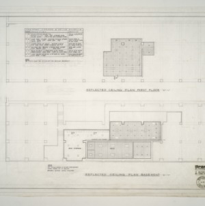 Branch Banking and Trust Co. Building -- Reflected Ceiling Plan - First Floor and Basement
