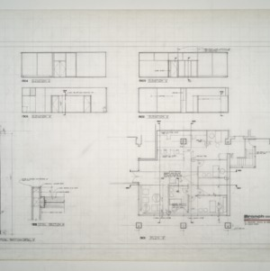 Branch Banking and Trust Co. Building -- Typical Partition Detail, Elevations, Plan