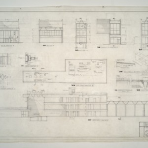Branch Banking and Trust Company Office Building -- Revolving Door Details, Third Floor Roof Plan