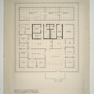 National Headquarters for American Association of Textile Chemists and Colorists -- Floor Plan