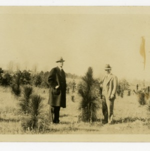 R. L. Stowe of Belmont, Gaston County, NC, with County Agent L. B. Altman