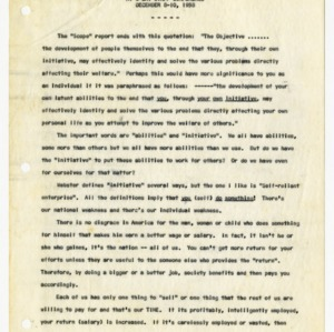 Closing statements from staff conference, 1958