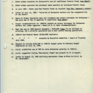 Agricultural Extension Service salary increase information, 1958-1963