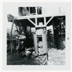 Harvesting operations at Graham Howard's farm