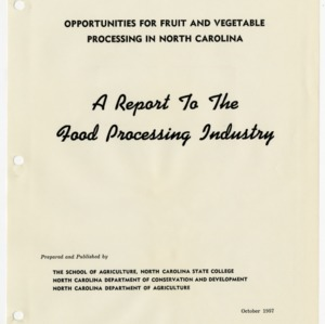 Fruit and Vegetable Production and Processing Study, Production Data Commission (1 of 2) :: Equipment Studies :: Physical Characteristics and Properties