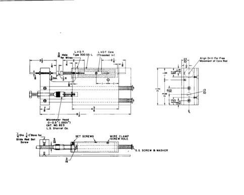 Technical drawing for an electronic micrometer