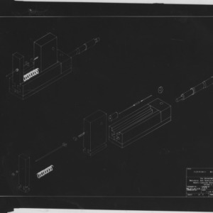 Technical drawings for an electronic micrometer, 1966