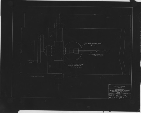 Technical drawings for an induction charging nozzle, 1966
